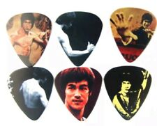 Bruce Lee Kung Fu Guitar Pick Set Collection Metal Punk Rock Music Gift Present