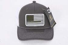 Leupold Flag Patch Trucker Hat Charcoal and White #112