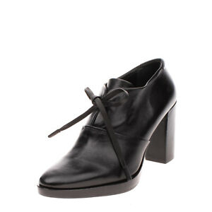 RRP €130 ZINDA Leather Booties Size 38 UK 5 US 8 High Heel Lace Up Closure