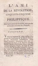 L'Ami de la Révolution 1791 Aux armes Citoyens