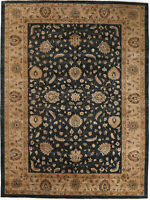 9X12 Hand-Knotted Oushak Carpet Traditional N/Blue Fine Wool Area Rug D32893