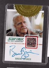 Brent Spiner autograph relic costume Star Trek Incentive 214/275