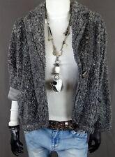 Hüftlange Damenjacken & -mäntel aus Polyester ohne Muster mit Knöpfen