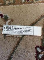 M6-3 Ephemera 1945 Advert Theatre Louis Roberts The Tatler