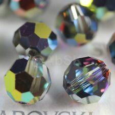 24 pcs Swarovski 5000 faceted 6mm Round Ball Beads Crystal Vitrail Medium