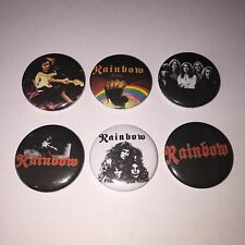 6 Rainbow Button badges Ronnie James Dio Down to Earth Since You've Been Gone