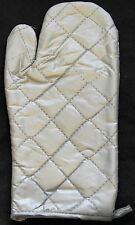 SILVER OVEN MITT - COOKING HAND PROTECTOR BAKING GLOVES KITCHEN STOVE