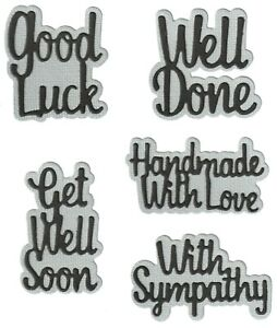 Good Luck Well Done with Shadow - Metal Cutting Dies - AUSTRALIAN STOCK