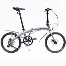 "ALU Klapprad 20"" Faltrad Fahrrad 8 Gang Shimano Scheibenbremsen Grau matt NEU!"