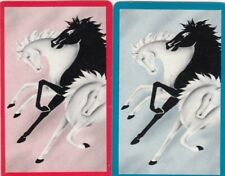 GENUINE SWAP PLAYING CARDS - 2 SINGLE - HORSES - #30