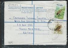 MALAWI (P2908B) 1982 FORMULA REG INSECT STAMP+ BIRD STAMP SENT TO ENGLAND