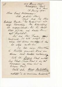 """Balch, Edwin Swift, Korrekturen zu """"Nordpol"""", Autograph"""