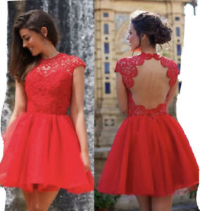 Women Short Mini Skater Dress Evening Party Cocktail Prom Gown Homecoming Dress﹣