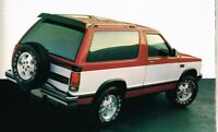 1986 Chevy S10/S-10 BLAZER Truck Brochure with Color Chart: 4WD, Tahoe, Sport,