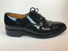 MEN'S GRENSON SZ 6.5 FG DRESS PATENT LEATHER OXFORD TOE SHOES LACE UP