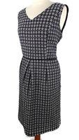 Fenn Wright Manson Size XL 16 18 Navy Blue Sleeveless Fitted Dress
