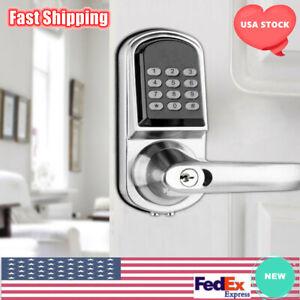 Electronic Digital Keyless Smart Door Lock Code Keypad Entry Security Lock Home