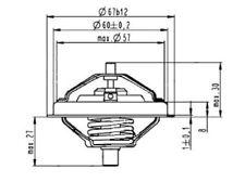ENGINE COOLANT THERMOSTAT WAHLER WA4488.80D0