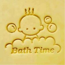 """Bath Time Handmade Resin Soap Stamp Seal Soap Mold Mould1.85""""x1.54"""" YZ"""
