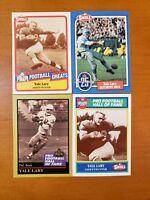 Yale Lary HOF - NICE 4 CARD LOT Detroit Lions / Texas A&M Aggies