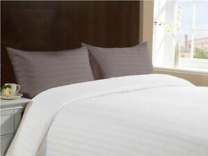 x2 Standard Queen King 100% Cotton 300TC Pillow Case Cases Sham - Stripe LASIN