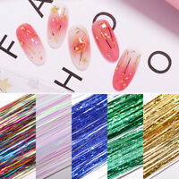 Colorful Nail Art Gracile Silk Wire Lines Holographic NailS 3D Decorations DIY