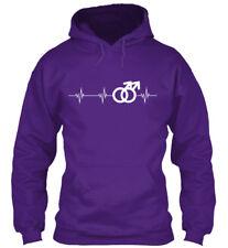 Gay Heartbeat Gildan Hoodie Sweatshirt