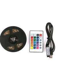 Usb 1 light RGB color 5050 led strip light TV Backlight + Remote Control USB