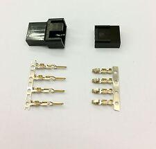 MASCHIO & FEMMINA 4 PIN PC FAN LED connettori di alimentazione - 5 di ogni-Nero Inc PIN