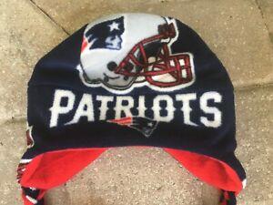 New England Patriots Ear Flap Fleece Hat - Newborn Baby Boys Girls Men & Women