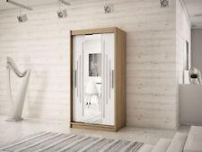 Wardrobe YORK 1 - 100 with Sliding Doors Hanging Rail Shelves New