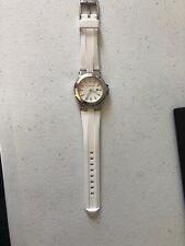 michael kors White 19mm Silicone/Rubber Watch Band