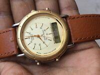 Vintage Citizen GN 4- 5 Dual time Quartz Alarm chronograph watch