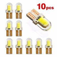 10 Ampoules LED W5W T10 194 168 W5W COB 8SMD Puces 360° Blanc 80LM 12V 3W Autos