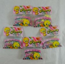 5 Pack Tweety Bird Character Shape Ringz Silly Bandz Elastic Rings Party Favors