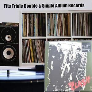 "25 12"" inch Vinyl Record Album 3 LP 450g Gauge Plastic Outer Polythene Sleeves"