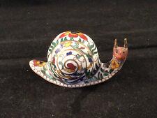 Vintage Cloisonne Enamel Brass Asian Miniature Snail