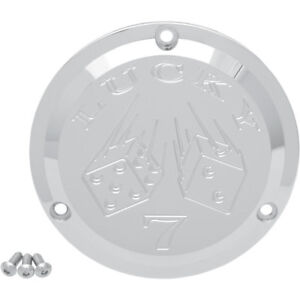 Joker Machine Chrome Lucky 7 Derby Cover for 1970-1998 Harley Big Twins