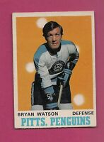 1970-71 OPC # 204 PENGUINS BRYAN WATSON EX-MT  CARD  (INV#2689)