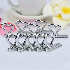 10pcs Heart Style Wedding Party Table Place Name Number Card Clip Stand Holder