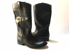 Frye Melissa Button Tall Leather Riding Boots Black Size 7 New