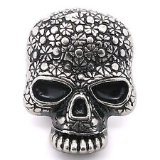 "Floral Skull Line 24 Decorative Snap Cap Antique Nickel 1"" 1265-66 Stecksstore"