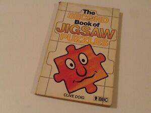 1982 Softback 'THE SECOND BOOK of JIGSAW PUZZLES' by CLIVE DOIG