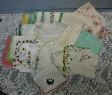 Vintage Ladies Hankies Lot of 38 Florals Embroidered Monogram Roses