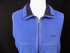 Patagonia Synchilla Vest Sweater Jacket Full Zip Up Down Blue Fleece Medium M