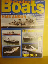 MODEL BOATS OCTOBER 2000 HMS ANSON NIMBUS LE MARSOUIN BLACK PIG SA WINTERBERG
