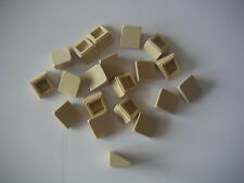 Lego 20 briques inclinées beiges neuves / New Tan slopes 1x1x2/3 REF 54200