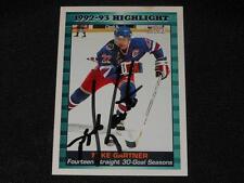 NY Rangers Mike Gartner Autograph 1993/94 Score Signed Card #447  JB10