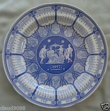 "SPODE  ""1997 ANNUAL CALENDER PLATE BLUE ROOM-PLATE 27.0 cm 9401197 MINT IN BOX"