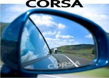 Corsa Sticker Decal Etched Glass Effect Mirror Styling